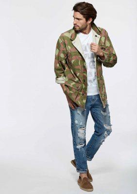 giacca in cotone con ricamo